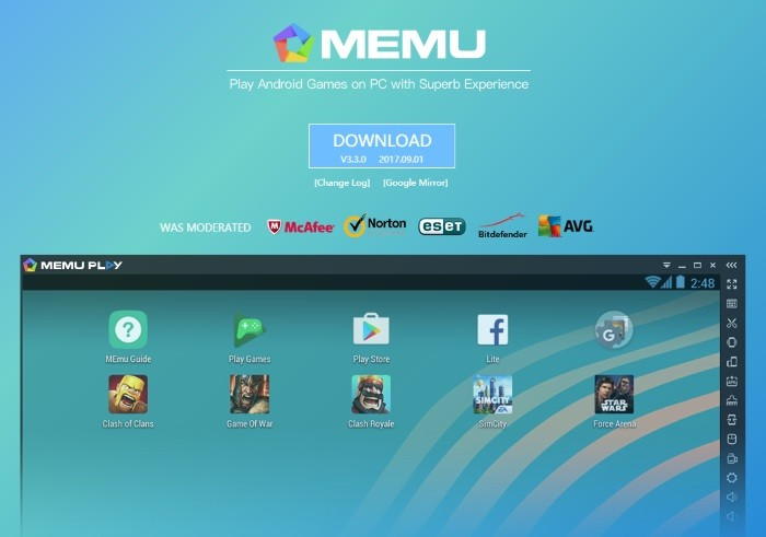 memu android version change