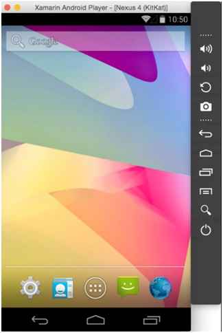 Интерфейс Xamarin Android Player