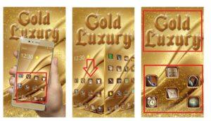 "Тема ""Gold Luxury Theme Делюкс"""