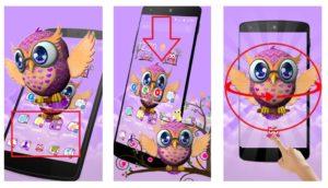 "Тема ""Cute Owl 3D Theme"""